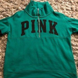 Pink zip up hoddie